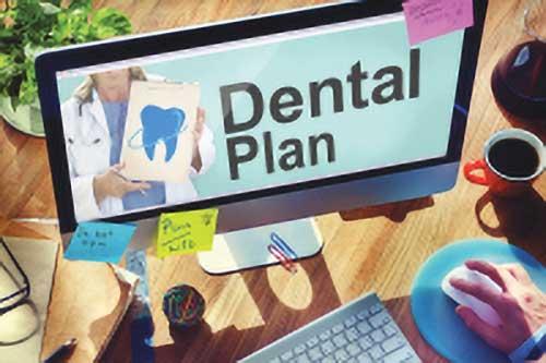 guy searching for dental plan
